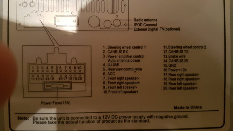 Eonon D5150 Wiring Help