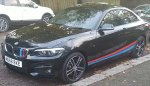 BMW 220d with MSport Body Stripes