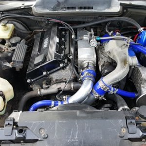 E36 Supercharged M42 Engine Bay